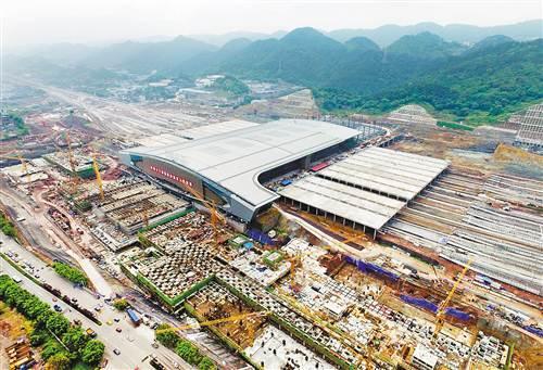 重庆西站铁路综合交通枢纽一期年底投用