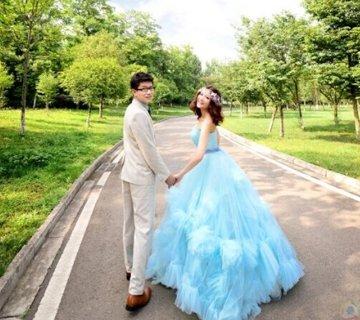 我的森林系范婚纱照就是这么美