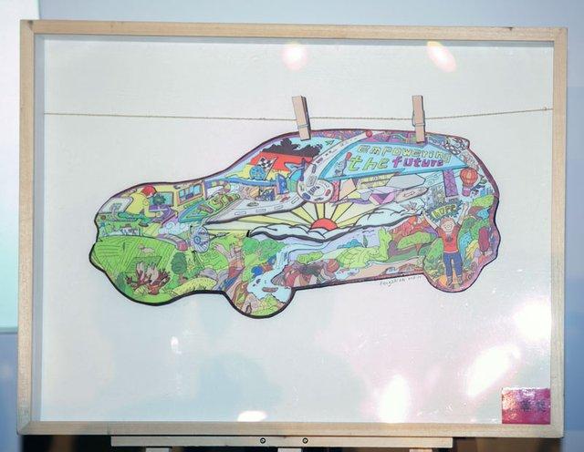 《gift》; 初中生绘画获奖作品图片展示下载; 优秀中学生绘画作品图图片