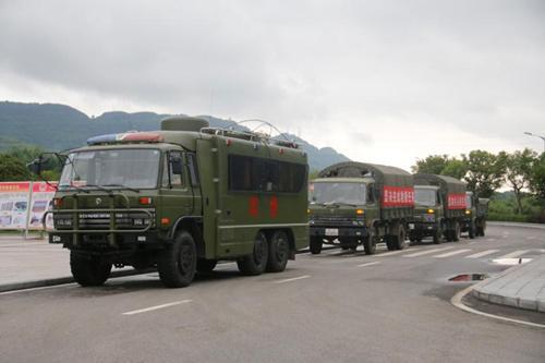 驻渝武警水电第八支队紧急驰援四川茂县山体滑坡现场