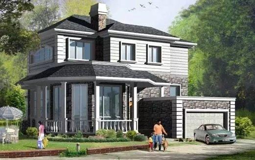 两层别墅屋顶造型图片