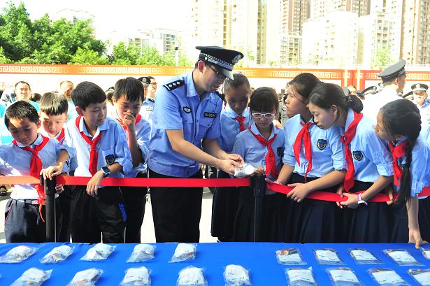 重庆警方集中销毁海洛因、冰毒等各类毒品1.2万吨