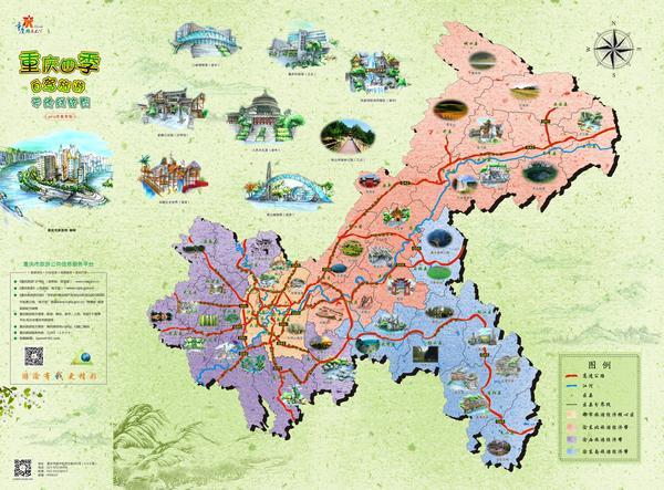 这幅手绘彩色地图与其他地图相比