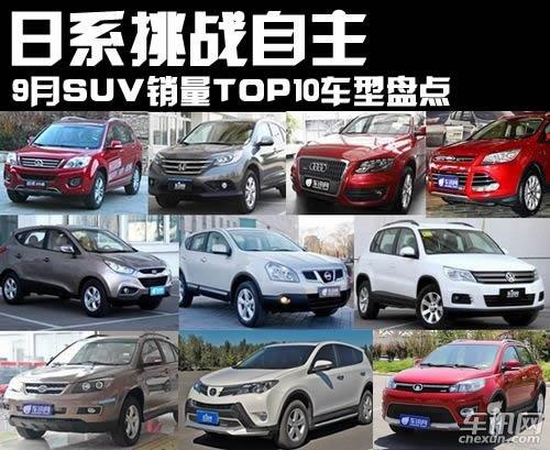 9月SUV销量TOP10车型盘点 日系挑战自主