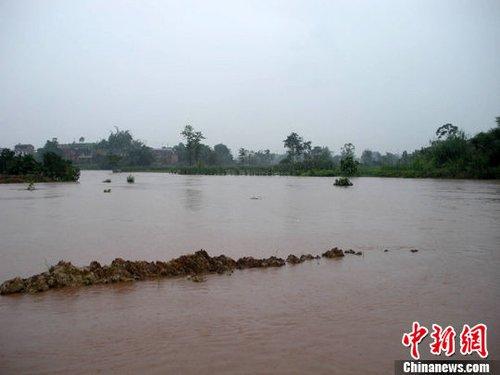 铜梁暴雨致20余处次生灾害 5000亩菜地变水塘