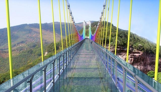 重庆主城唯一3D全景玻璃桥 来迎龙峡玩穿越赏樱花