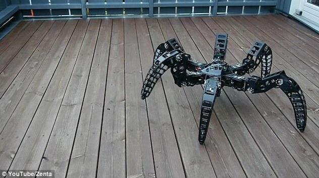 工程师开发机器蜘蛛 可能是最吓人机器人