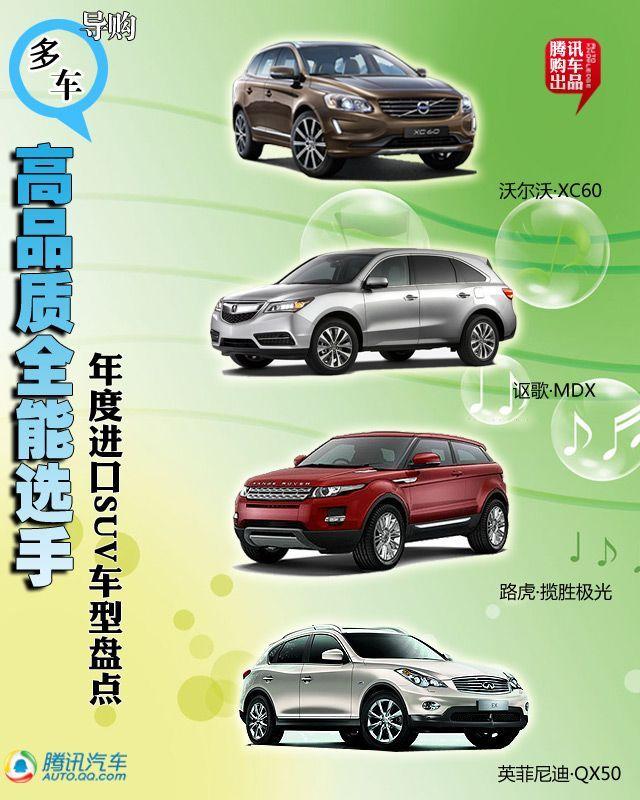 年度进口SUV车型盘点 高品质全能选手