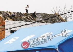强风雹袭渝东续 村民墙上贴字:感谢党和政府
