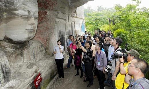 达人游大足石刻:这应是佛教的教育基地