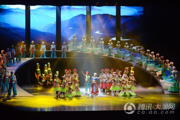 歌舞诗剧《濯水谣》重庆大剧院上演 展现黔江历史文化