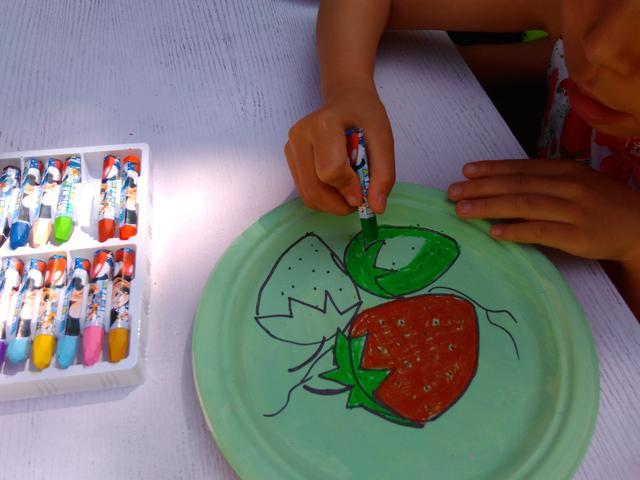 儿童手绘盘子图案设计