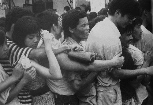 1992年深圳新股认购 股民半夜起床排队