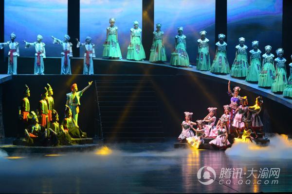 歌舞诗剧《濯水谣》在重庆大剧院上演 展黔江历史文化