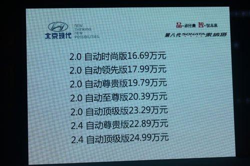 北京现代第八代索纳塔 重庆CBD炫目上市