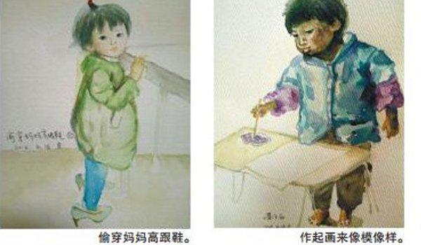 """母亲用上百幅画作""""留住""""女儿童年"""
