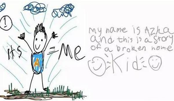 6岁孩子画出爸妈离婚全过程 看完扎心了