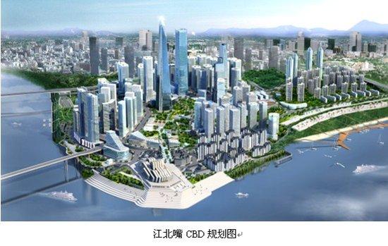 同时与渝中半岛,南山观景台遥相呼应,构成江北嘴中央商务区富于层次变