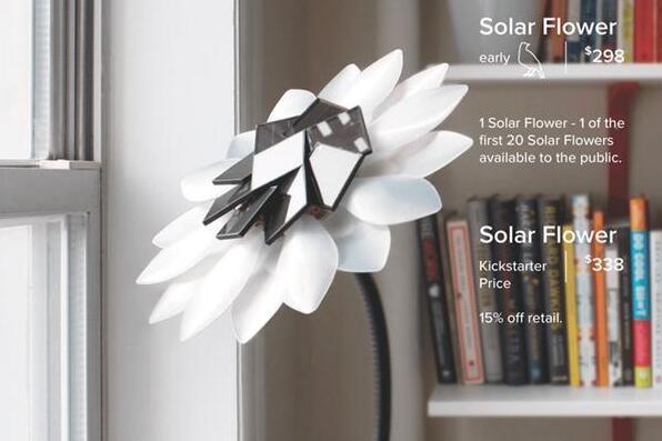 """真正的""""太阳花 """" 白天吸收太阳能夜晚上亮子"""