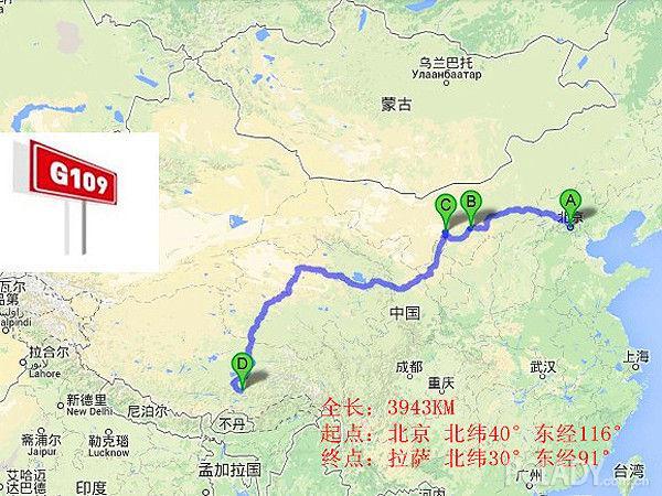 中国109国道vs美国66号公路