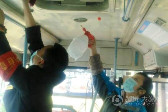 春季细菌易滋生 重庆188辆公交车陆续消毒清洁