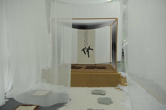 茶室展位效果图手绘