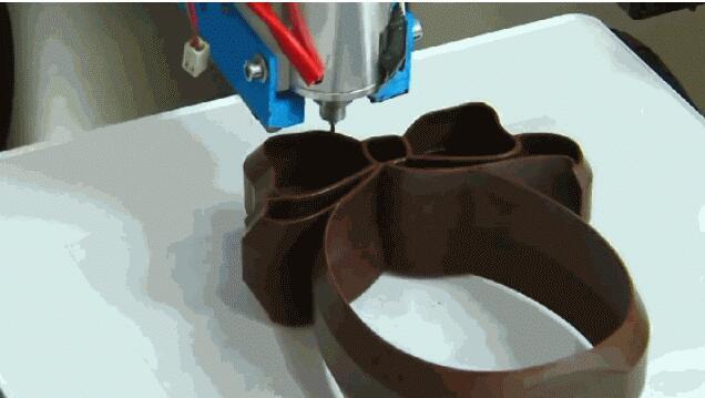 吃货看过来 3D打印能吃到任意形状巧克力