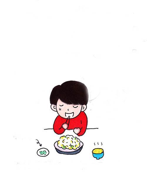 总一个人吃饭
