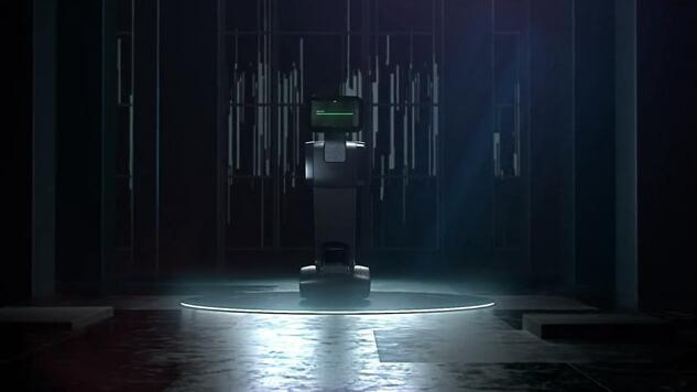 """长着""""扑克脸""""的机器人可以给你放电影"""