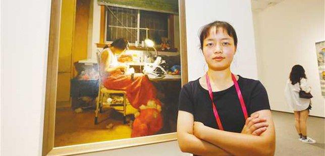 重庆两名95后小花毕业设计作品入选全国美展
