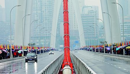 东水门大桥正式通车 首日早高峰未现拥堵