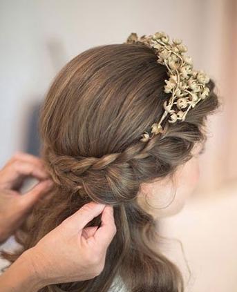 户外婚礼新娘发型推荐 唯美浪漫清新自然图片