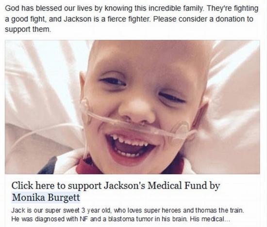 美国母亲假扮医生诊断儿子患脑瘤骗取27万元善款