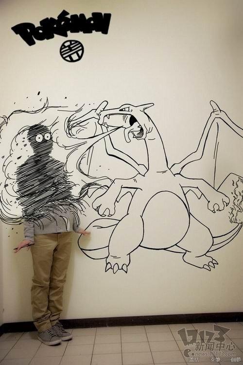 国内大学生虚幻与现实结合的创意画作