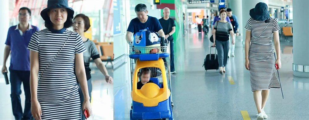 朱丹带女儿现身机场,衣着宽松小腹明显隆起,真怀二胎了?