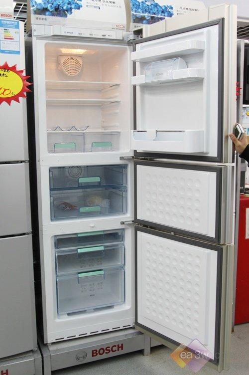 博世超制冷 淡蓝三门冰箱涨价也热卖