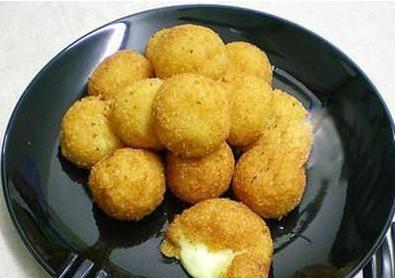 换个酥脆的口感吃红薯--芝心薯球