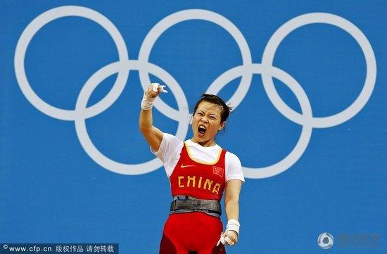 女子举重48公斤级王明娟折桂 中国收获第二金