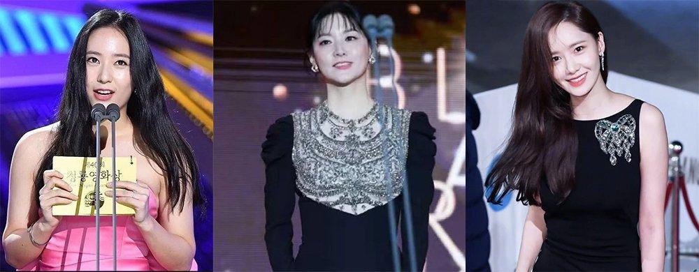 韩国顶级颁奖礼:允儿艳光四射、郑秀晶胖到失真,李英爱优雅高贵