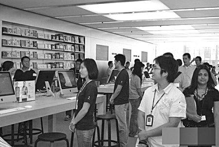 """重庆3家""""山寨苹果店""""考你眼神"""