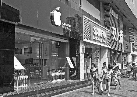重庆3家山寨苹果店考你眼神