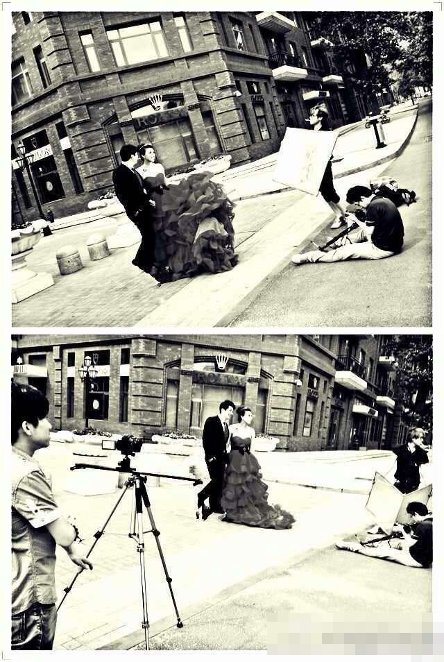 前中国女排队员李娟和未婚夫的婚纱照近日首度曝光,婚照高清图片