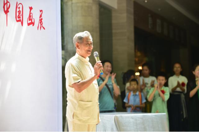 """首届""""希望之星""""少儿中国画展在重庆文化宫开幕"""