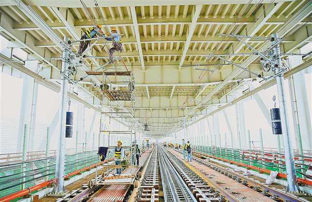 轨道交通环线北半环轨道铺设完成 年底将开通试运营