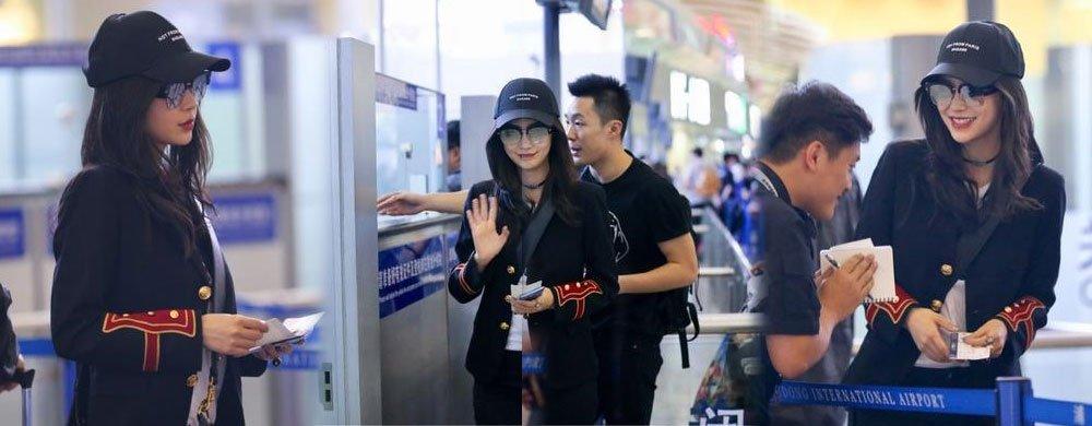 Baby帅气现身机场 回归跑男录制