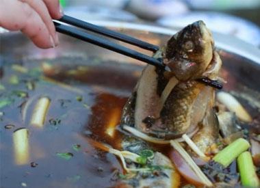 土鲫鱼进重庆城啦 兔头、龙虾好吃得板