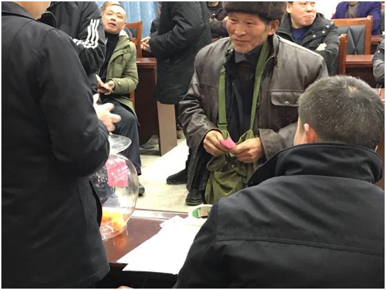 彭水县三义乡易地扶贫搬迁贫困户分房了