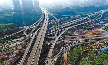 """被称为""""最复杂立交桥""""的重庆黄桷湾立交 首席记者 钟志兵 摄"""