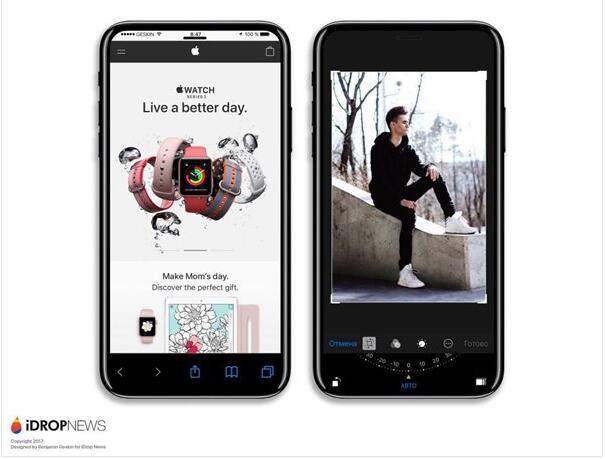 Home键没了 iPhone 8渲染图都是全面屏