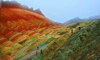 张掖彩色岩石如油画